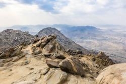 Scenic Cloudsscape and Makkah Mountains, Saudi Arabia