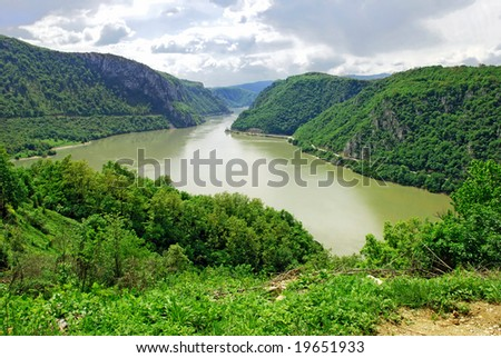 Scenic Danube value between Serbia and Romania