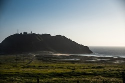 Scenic hill by the ocean, California, USA