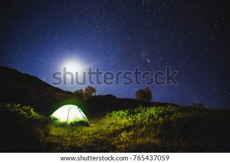 scenic image of night sky over...