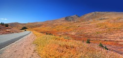 Scenic landscape at Guanella pass along Guanella pass road