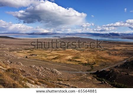 scenic landscape from mono lake, ca, usa