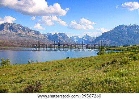 Scenic landscape in Glacier national park