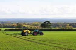 Scenic Landscape View of Farmland in Wiltshire England