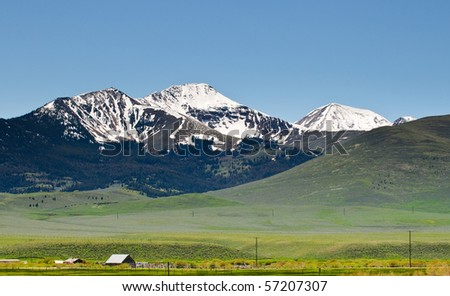 scenic landscapes in the mountains and foothills of Montana, usa