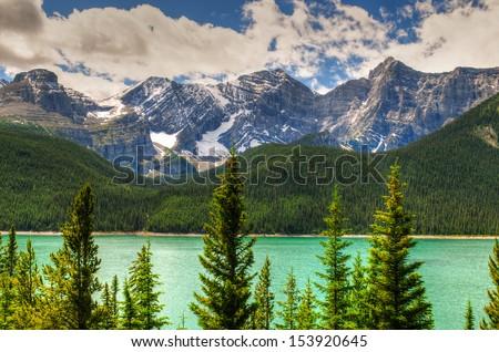 Scenic mountain lake, Kananaskis Country Alberta, Canada #153920645
