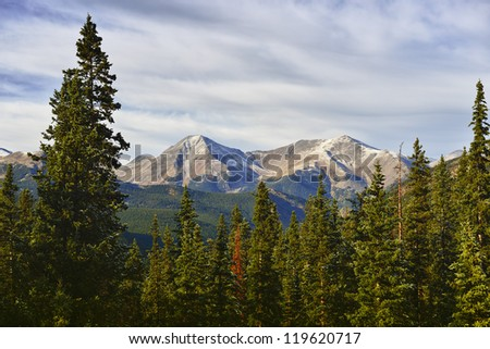 scenic mountain view in colorado during sunset