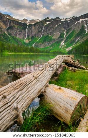 Scenic mountain views, Avalanche Lake, Glacier National Park Montana USA