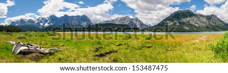 Scenic mountain views, Avalanche Lake, Glacier National Park Montana USA - stock photo