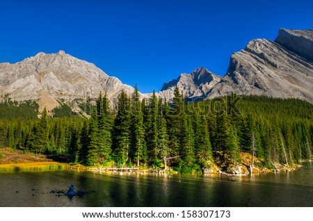 Scenic Mountain Views, Elbow Lake area, Peter Lougheed Provincial Park, Alberta Canada
