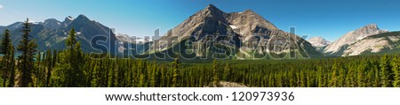 Scenic Mountain Views Kananaskis Country Alberta Canada