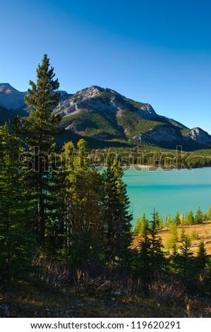 Scenic mountain views, Kananaskis Country Alberta Canada in Autumn