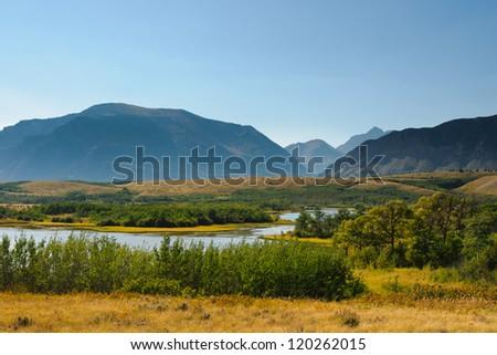 Scenic Mountain Views, Waterton National Park Alberta Canada