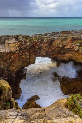 Scenic Mouth of Hell (Boca de Inferno) Gorge near Cascais, Portugal