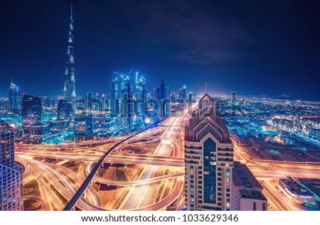 scenic nighttime skyline of a...
