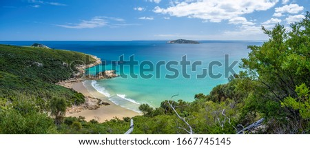 Scenic ocean views from Tongue Point - Darby River walk in Wilsons Promontory National Park, Australia - panorama