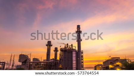 scenic of petrochemical oil refinery plant shines at night, closeup #573764554