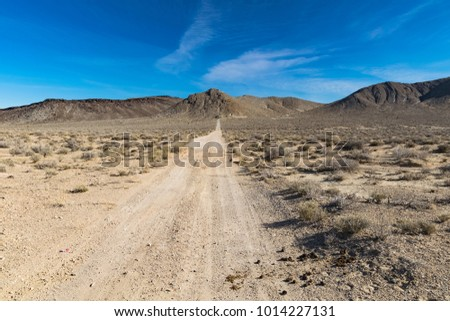 Scenic picture of the beautiful horizon in Arizona desert, USA