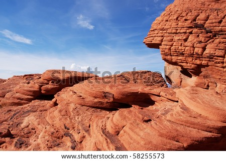 Scenic Red Rock Canyon in Nevada