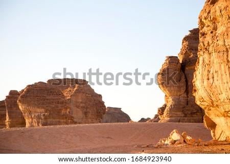scenic rock mountain in deser, in Al Ula, kingdom of Saudi Arabia  Zdjęcia stock ©