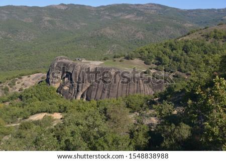 Scenic shot of mountain, Meteora, Greece
