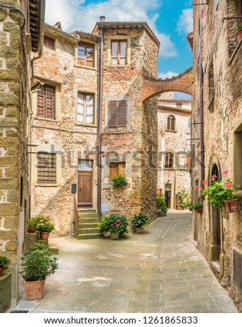 Scenic sight in Anghiari, in the Province of Arezzo, Tuscany, Italy. ストックフォト ©