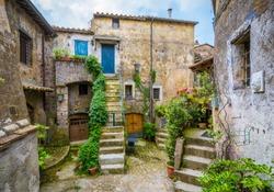Scenic sight in Calcata, Viterbo Province, Lazio, Italy.