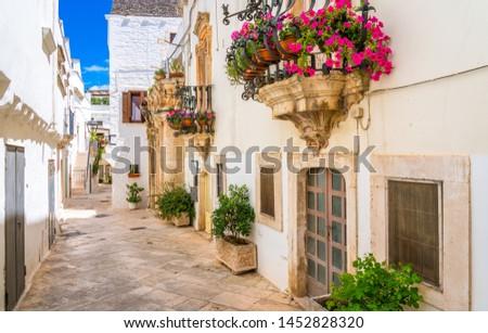 Scenic sight in Locorotondo, Bari Province, Apulia (Puglia), southern Italy.