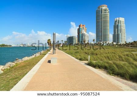 Scenic South Pointe Park in Miami Beach.