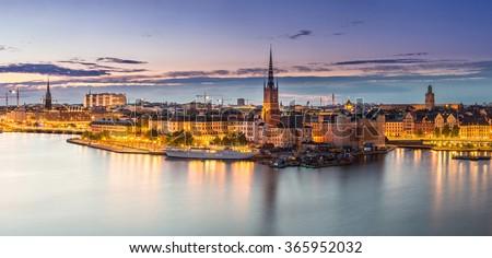scenic summer night panorama of ...