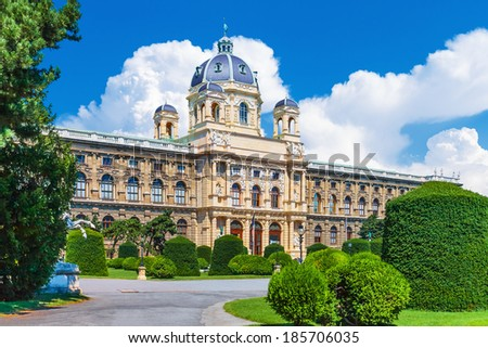 Scenic summer view of Museum of Art History (Kunsthistorisches Museum) in the Old Town in Vienna, Austria