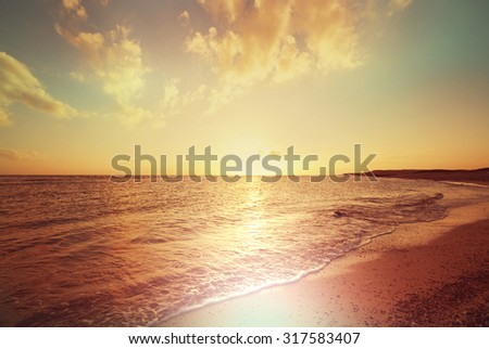 Scenic sunset at the sea #317583407