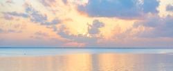 scenic sunset on the Indian ocean on the Zanzibar island