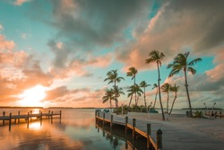 Scenic Sunset Shot in the Keys Florida