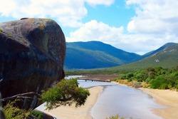 Scenic Tidal river at Wilson Promontory national park, Australia.