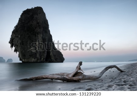 Scenic tranquil landscape. Nature sea photography