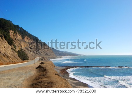 Scenic US Highway One (US-1) in Big Sur in California, USA