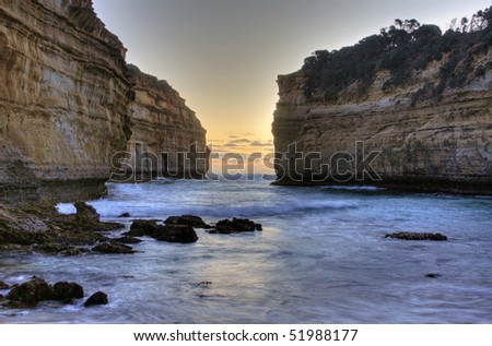 Scenic View along the Great Ocean Road