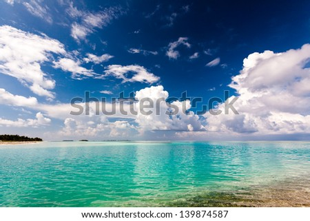 Scenic view at ocean near Maldives