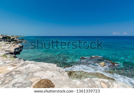 Scenic view from the Isla Mujeres cliffs #1361339723