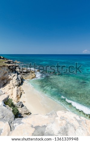 Scenic view from the Isla Mujeres cliffs #1361339948