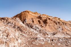 Scenic view in el Valle de la Luna (Valley of the Moon) near San Pedro de Atacama, Chile