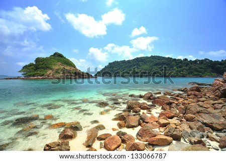 Scenic view near kho chang islands in thailand