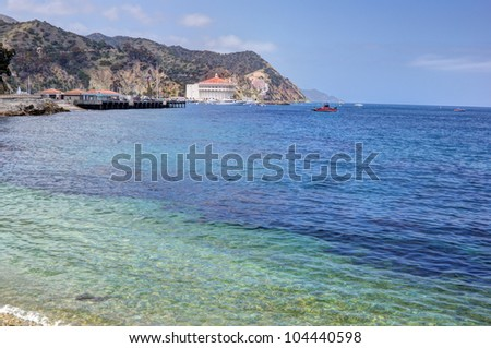 Scenic view of Avalon Harbor, Catalina Island