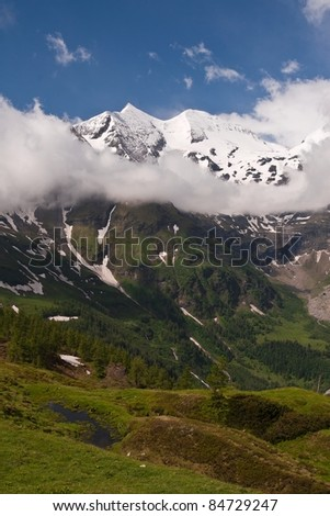 Scenic view of beautiful Alps mountains Austria