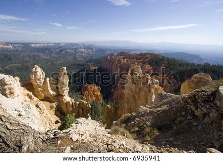 Scenic view of Bryce Canyon National Park, Utah