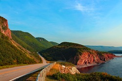 Scenic view of Cabot Trail, Canada