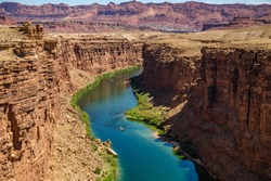 Scenic View of Canyon and Colorado River, Arizona