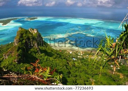 Scenic view of coral reef, Maupiti, French  Polynesia