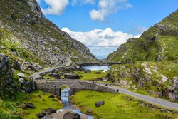 Scenic view of Gap of Dunloe, County Kerry, Ireland.